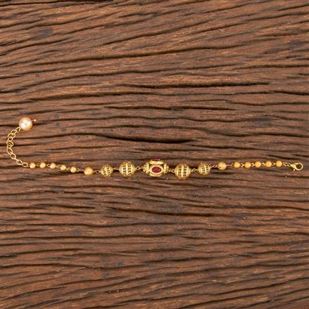 206802 Antique Hand Mangalsutra Bracelet With Gold Plating