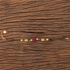 206803 Antique Hand Mangalsutra Bracelet With Gold Plating