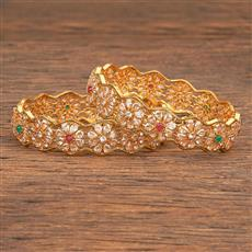 206818 Antique Classic Bangles With Gold Plating