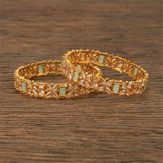 206819 Antique Classic Bangles With Gold Plating