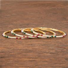 206833 Antique Plain Bangles With Gold Plating
