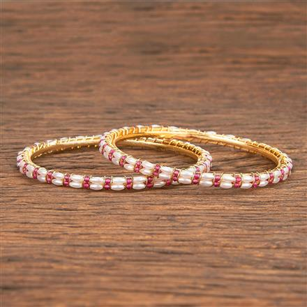 206834 Antique Delicate Bangles With Gold Plating