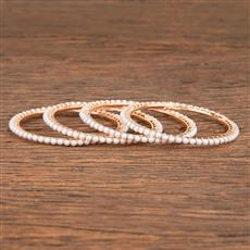 206835 Antique Delicate Bangles With Rose Gold Plating
