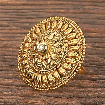 206860 Antique Classic Ring With Matte Gold Plating