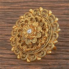 206865 Antique Classic Ring With Matte Gold Plating