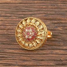 206889 Antique Classic Ring With Matte Gold Plating