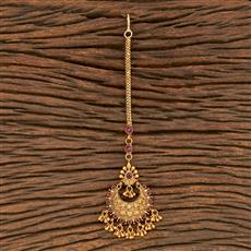 206910 Antique Chand Tikka With Matte Gold Plating