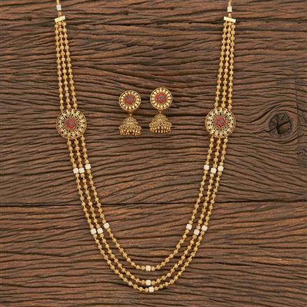 206964 Antique Side Pendant Necklace With Gold Plating