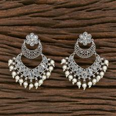 206967 Antique Chand Earring With Rhodium Plating