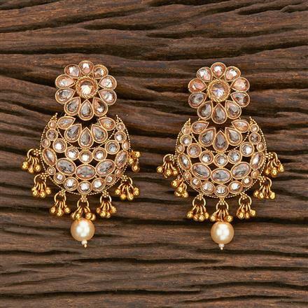 206969 Antique Chand Earring With Gold Plating