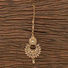 206982 Antique Classic Tikka With Gold Plating