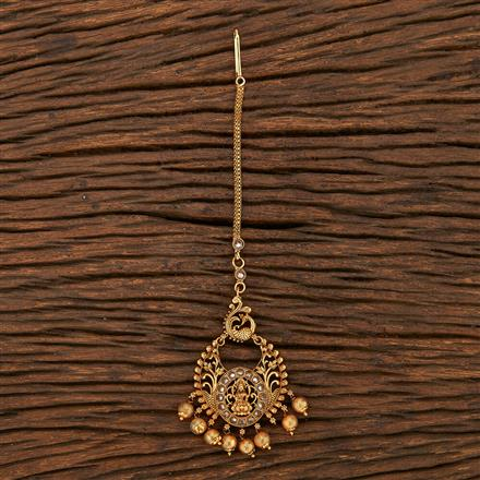 206995 Antique Chand Tikka With Matte Gold Plating