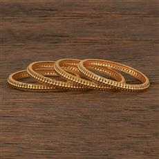 207011 Antique Plain Bangles With Gold Plating