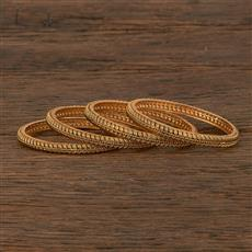 207012 Antique Plain Bangles With Gold Plating