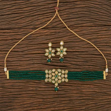 207013 Antique Choker Necklace With Gold Plating