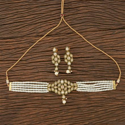 207014 Antique Choker Necklace With Gold Plating