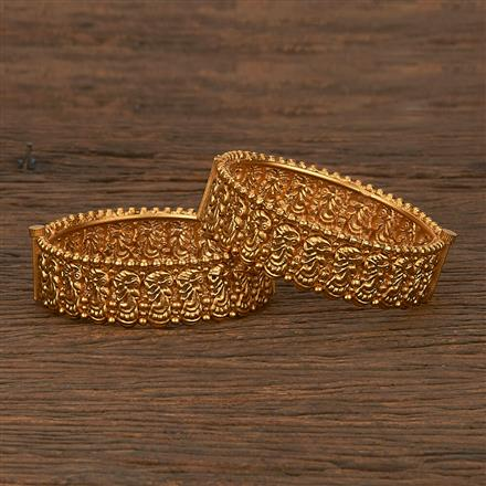 207015 Antique Openable Bangles With Gold Plating