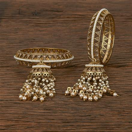 207017 Antique Classic Bangles With Mehndi Plating