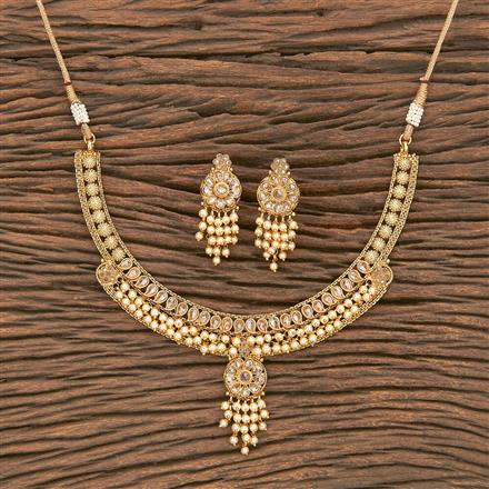 207019 Antique Delicate Necklace With Gold Plating