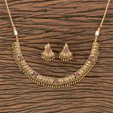 207022 Antique Delicate Necklace With Gold Plating