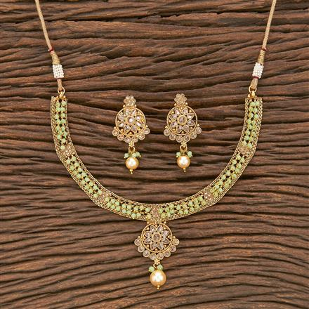 207023 Antique Delicate Necklace With Gold Plating