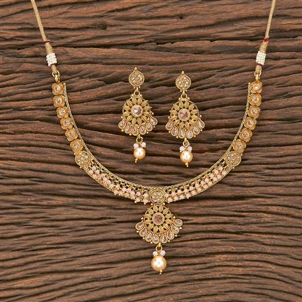 207024 Antique Delicate Necklace With Gold Plating