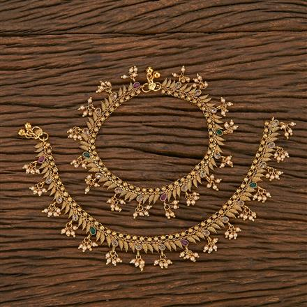 207038 Antique Classic Payal With Gold Plating