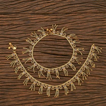 207039 Antique Classic Payal With Gold Plating