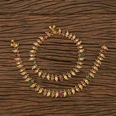207040 Antique Classic Payal With Gold Plating