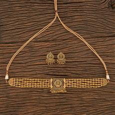 207065 Antique Choker Necklace With Gold Plating