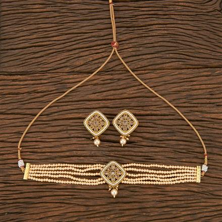 207072 Antique Choker Necklace With Gold Plating