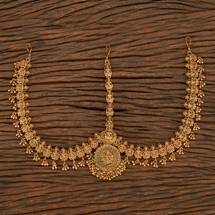 207082 Antique Temple Damini With Matte Gold Plating