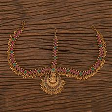 207083 Antique Temple Damini With Matte Gold Plating