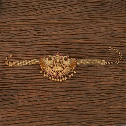 207086 Antique Temple Baju Band With Matte Gold Plating