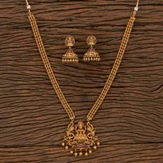 207088 Antique Temple Necklace With Matte Gold Plating