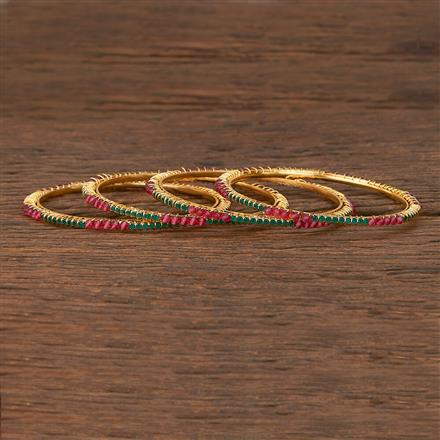 207094 Antique Delicate Bangles With Gold Plating