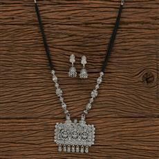 207105 Antique Temple Mangalsutra With Oxidised Plating