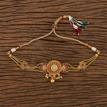 207112 Antique Temple Baju Band With Matte Gold Plating