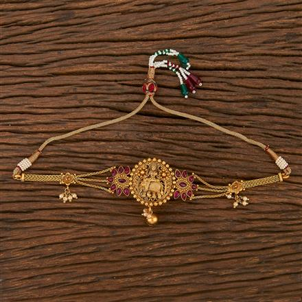 207114 Antique Temple Baju Band With Matte Gold Plating