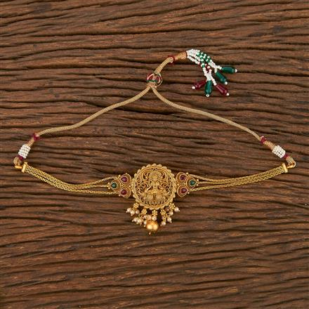 207116 Antique Temple Baju Band With Matte Gold Plating