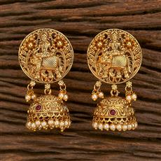 207127 Antique Temple Earring With Gold Plating