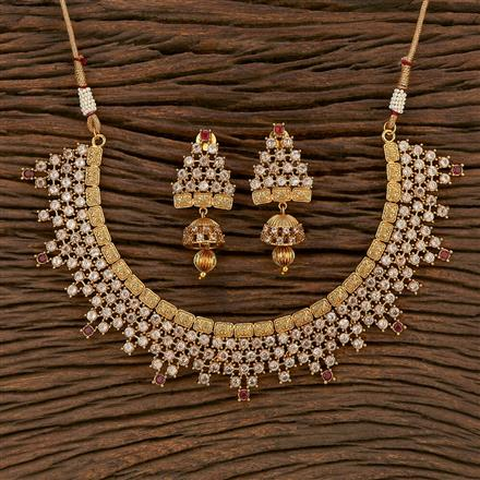 207130 Antique Classic Necklace With Gold Plating