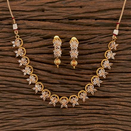 207131 Antique Delicate Necklace With Gold Plating