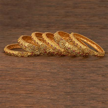 207135 Antique Classic Bangles With Gold Plating