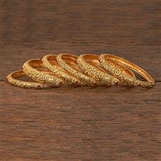 207136 Antique Classic Bangles With Gold Plating