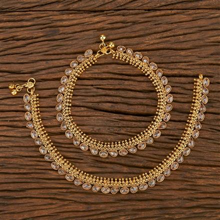 207137 Antique Classic Payal With Gold Plating