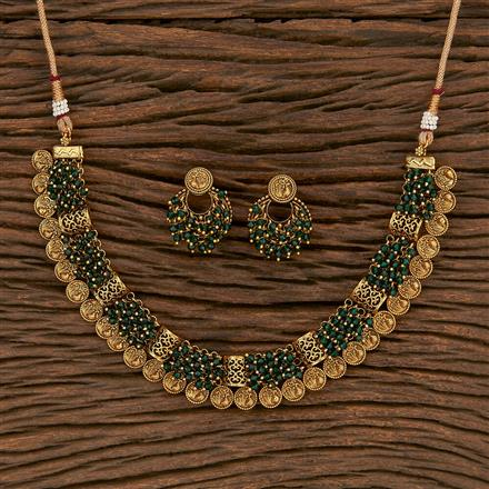207143 Antique Peacock Necklace With Gold Plating