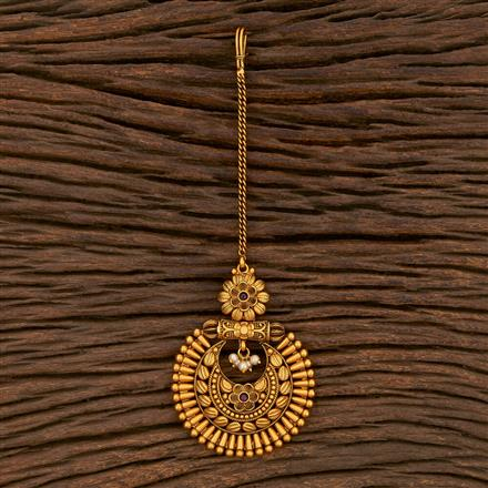 207145 Antique Chand Tikka With Matte Gold Plating
