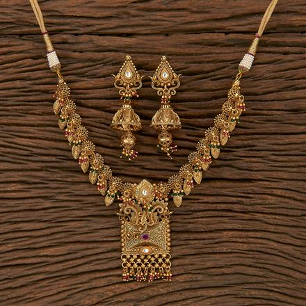 207155 Antique Classic Necklace With Gold Plating