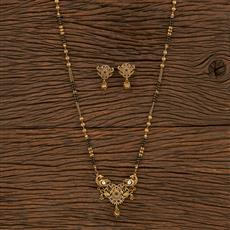 207156 Antique Classic Mangalsutra With Gold Plating